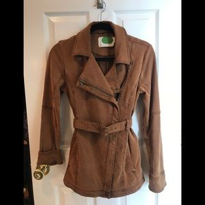 Anthropologie Jackets & Coats - Everyday Belted Moto Jacket in Cedar
